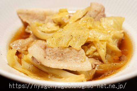 キャベツと豚肉の煮物
